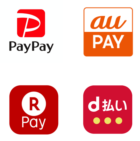 paypay auPAY 楽天Pay d払い